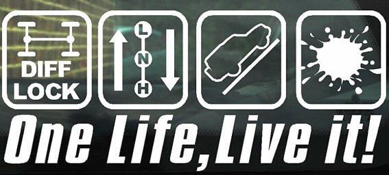 Offroad Reise Aufkleber One Life Live It