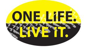Aufkleber Oval One Life Live It